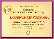 Grand Prix from the Liszt Society of Budapest